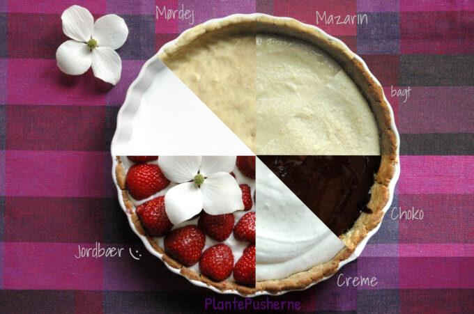 De 5 lag i glutenfri jordbærtærte
