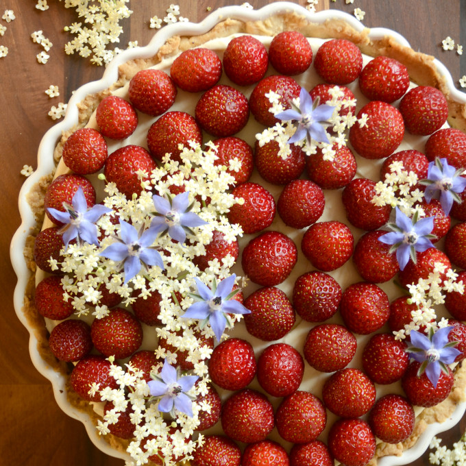 Den ultimative (veganske) jordbærtærte