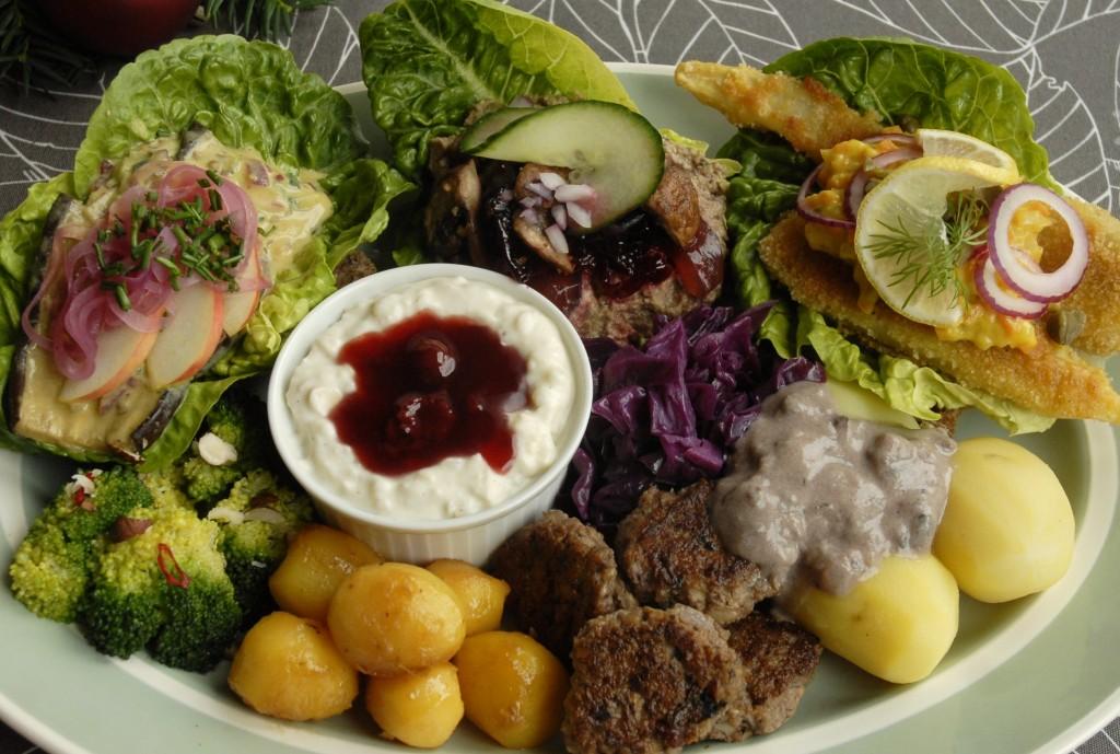 Vegansk vegetarisk julefrokost julemad catering klimavenlig