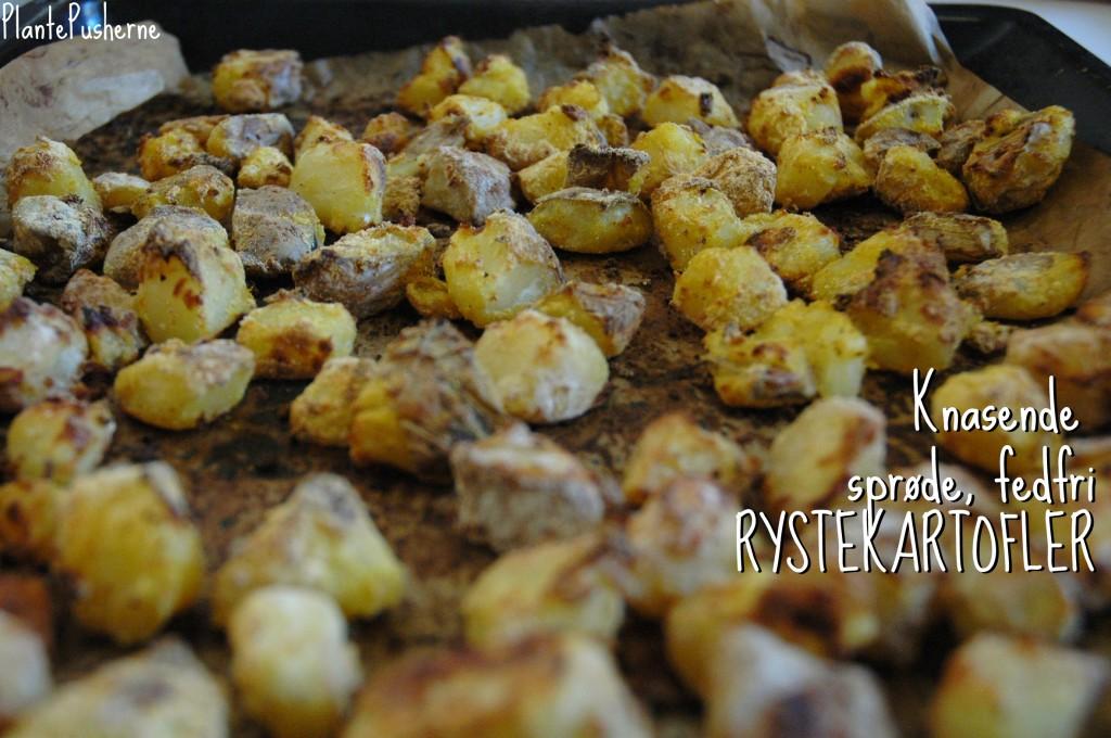 Sprøde fedtfri kartofler uden olie