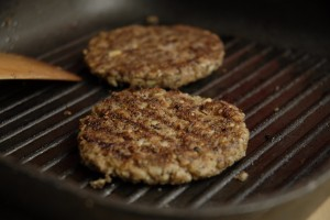 Veganske burger burgerbøffer