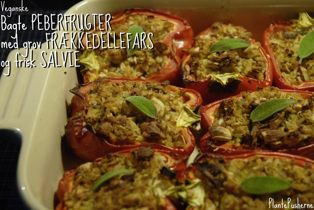 Veganske vegetariske bagte peberfrugter