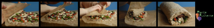 vegansk vegetarisk nøddesteg indbagt