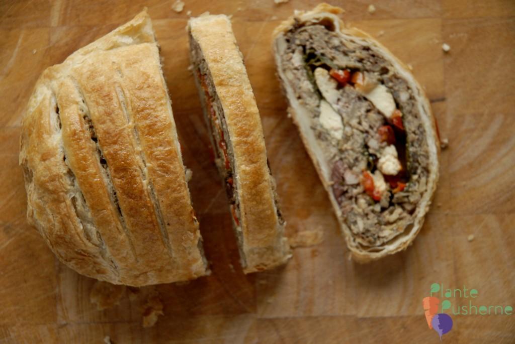 Morsbrød indbagt vegetarisk nøddesteg