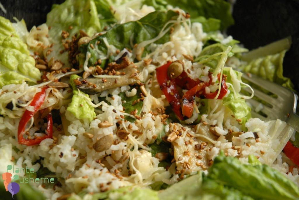vegansk ris-salat