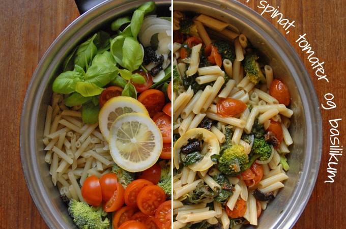 Vegasnk one pot pasta grøntsager