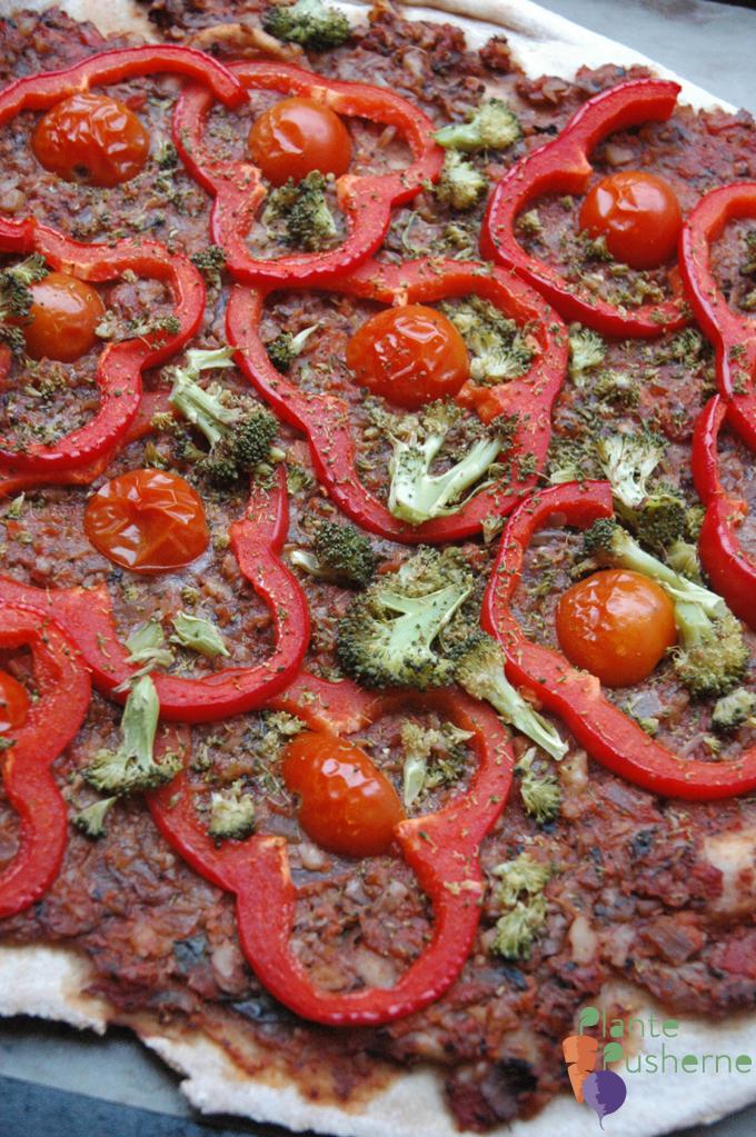 vegansk pizza bolognese
