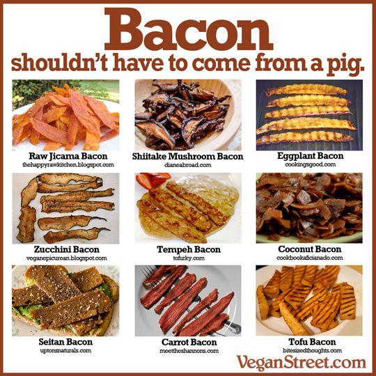vegetarisk bacon