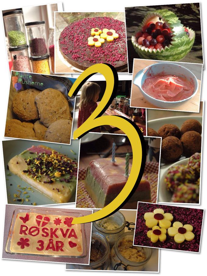 Børnefødselsdag Inspiration vegansk børnefødselsdag - 3 år • plantepusherne - vegansk mad