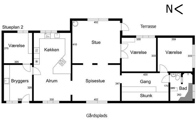 Grundplan bolig 2 Elmegården