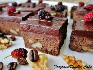 vegansk mokka brownie