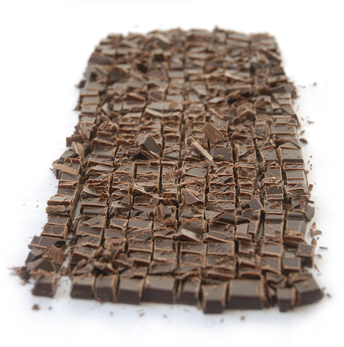 Chokolade finthakket