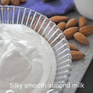 Almond milk sour cream (vegan)