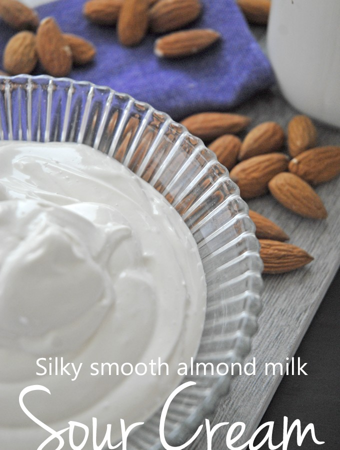 Almond milk sour cream