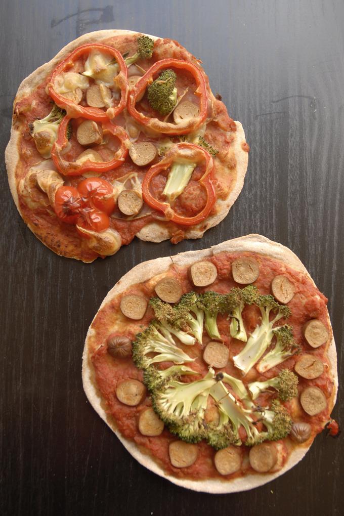 vegansk børnepizza