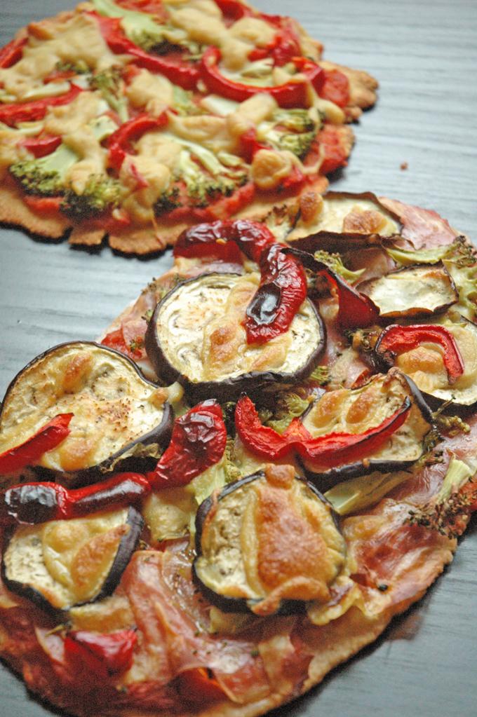vegansk pizza aubergine