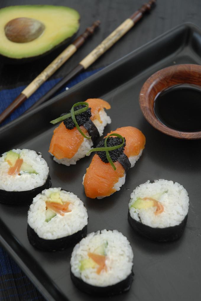 vegansk sushi fisk