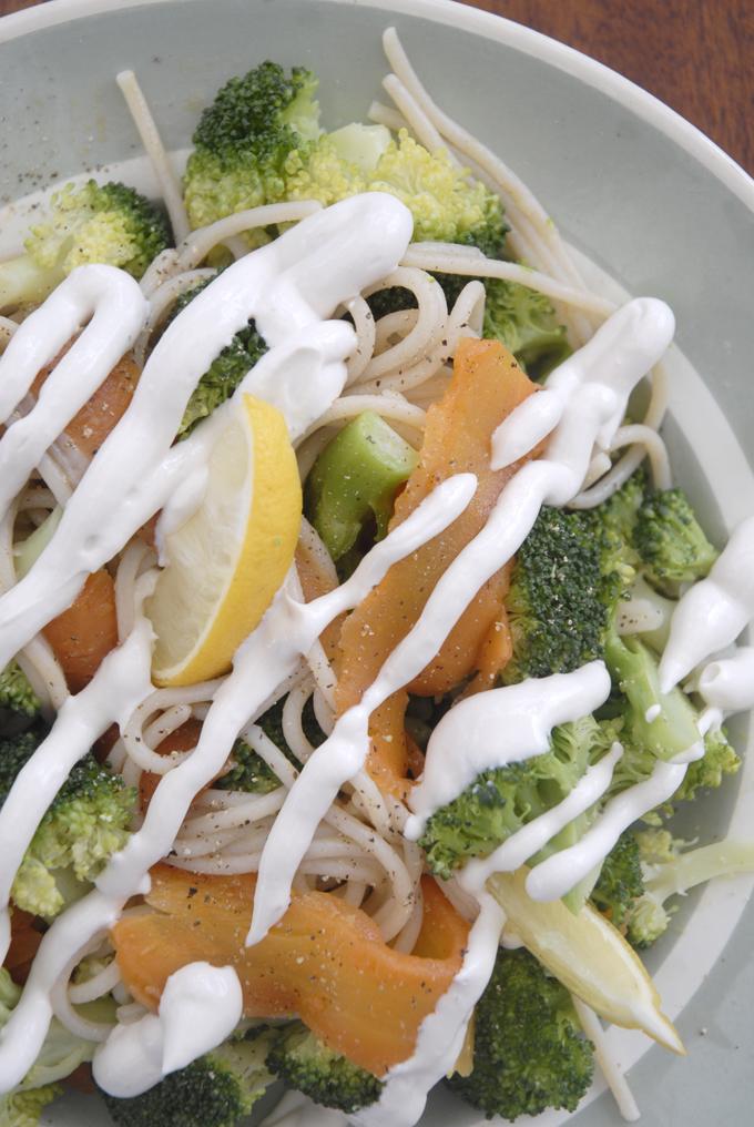 Vegansk Laks og broccoli