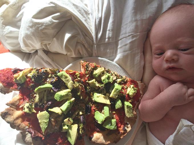 Pizza og baby