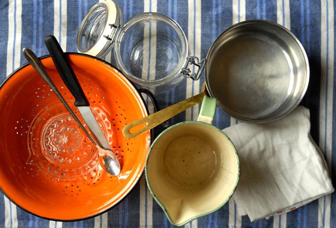 sterilisér køkkenredskaber