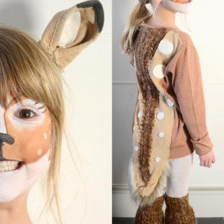 Bambi – kostume og ansigtsmaling