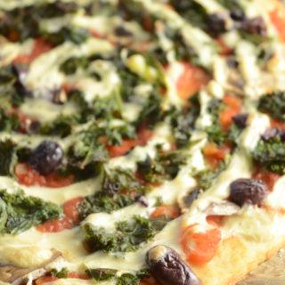 Glutenfri pizza (vegansk, oliefri)