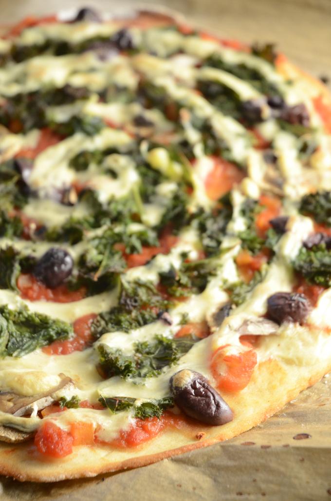 Glutenfri vegansk pizza