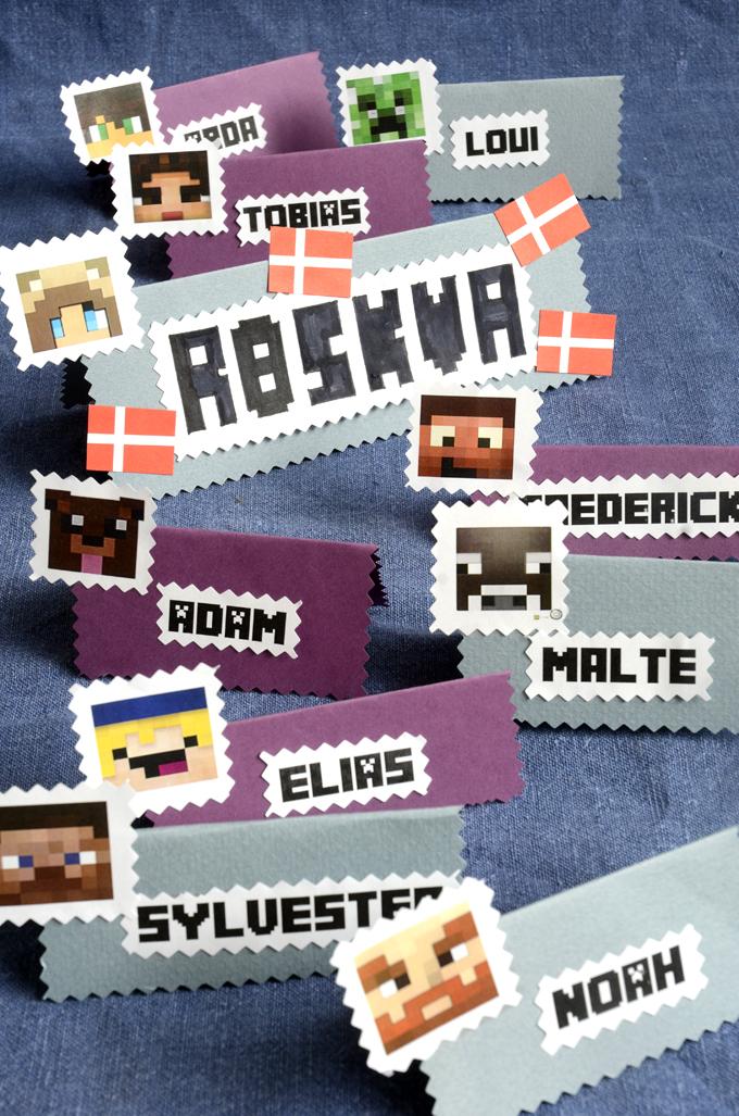 Minecraft tema bordkort