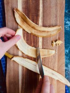 bananskræl skrabes